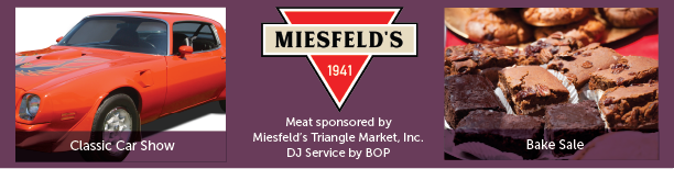 Car Show, Bake Sale and Miesfeld's Meats